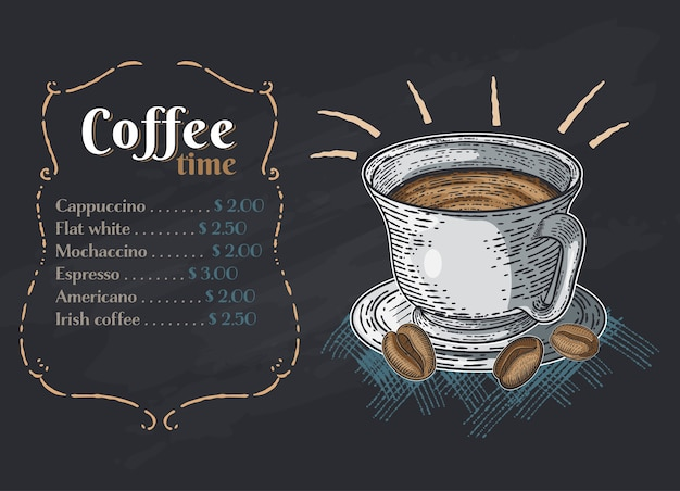 Coffee color hand drawn collection