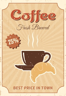 Coffee colored poster