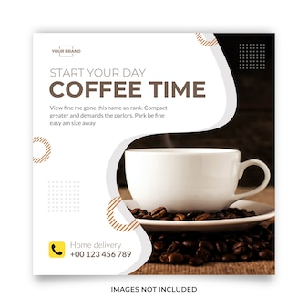 Coffee concept social media Premium Vector