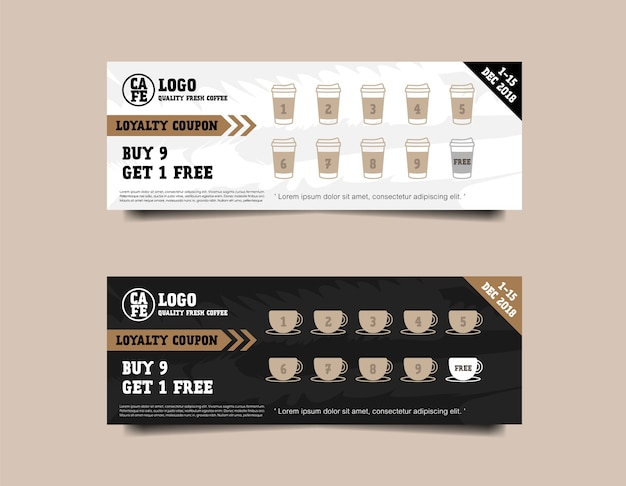 Coffee coupon loyalty card