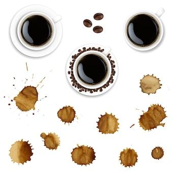 コーヒーカップとコーヒーペイント