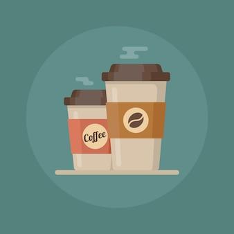 コーヒーカップ。コーヒーカップのイラスト。コーヒーカップのアイコン
