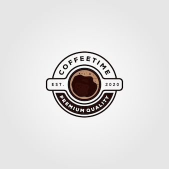 Coffee cup logo cafe shop illustration design