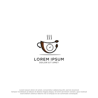 コーヒーカップのロゴのインスピレーションを与えるデザインベクトルビジネステンプレート