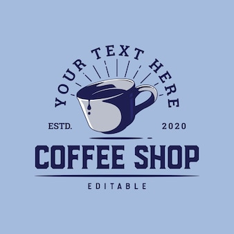 Coffee cup logo template for coffee shop or poster