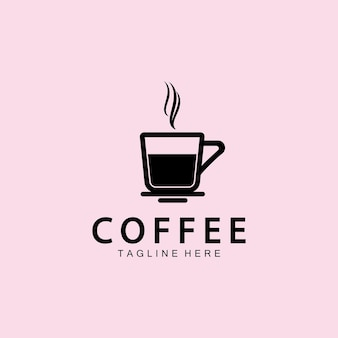 커피 컵 로고 템플릿 벡터 아이콘 일러스트 디자인