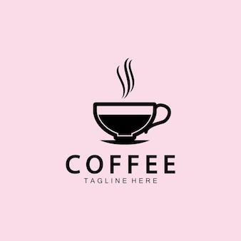 コーヒーカップロゴテンプレートベクトルアイコンイラストデザイン