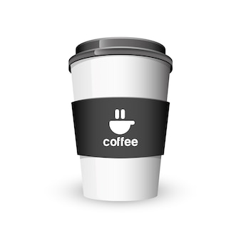 Coffee cup mock up. illustration
