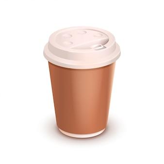 화이트 커피 컵
