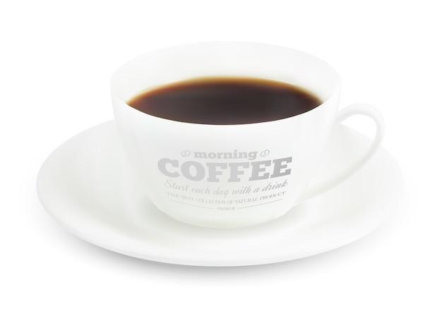 コーヒーカップのプリントデザイン。