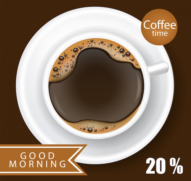 Coffee cup realistic   illustration
