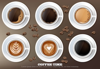 Coffee cup set collection