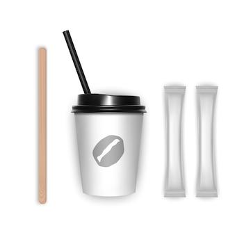 コーヒーカップのテイクアウトデザイン