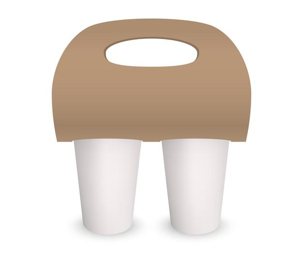 Coffee cup takeaway pack holder 3d