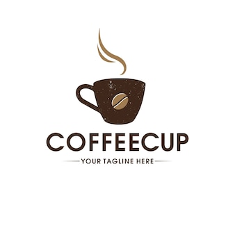 Coffee cup vintage logo template
