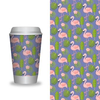 パターンテンプレートとコーヒーカップ