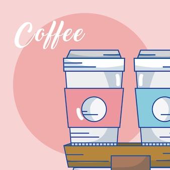 Кофейные чашки для иллюстрации векторной графики