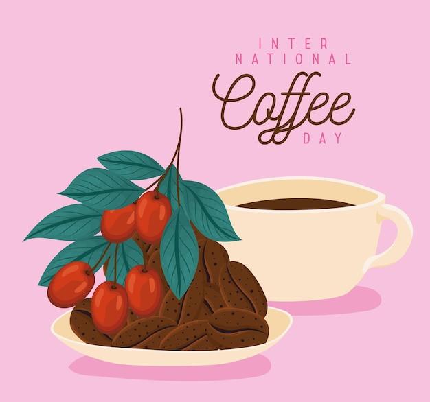 Coffee day illustration