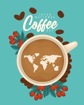 Coffee day illustration Premium Vector
