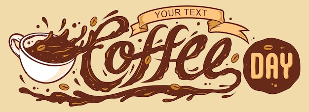 Coffee day lettering