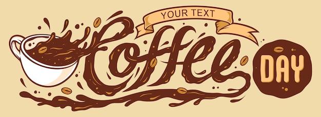 コーヒーの日のレタリング
