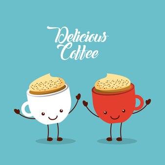 Coffee delicious flat illustration