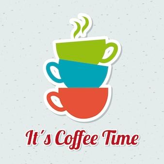 Coffee design over blue background vector illustration