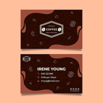 Coffee double-sided business card template