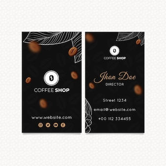 Coffee double-sided business card