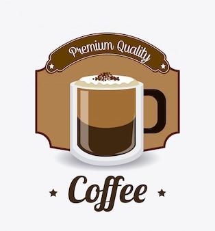 Coffee drink design.