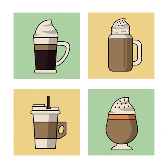 コーヒードリンクアイコンセット