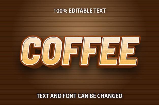 Кофе редактируемый текстовый эффект современный стиль