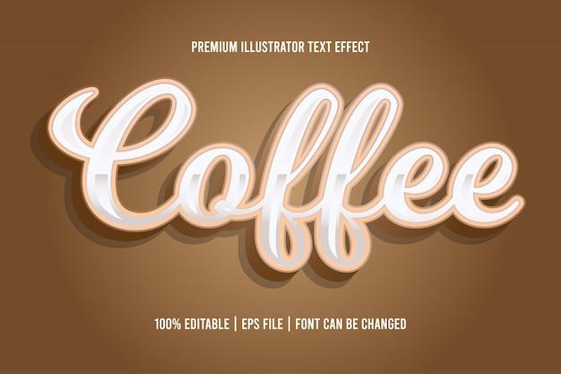 Кофе редактируемый текстовый эффект