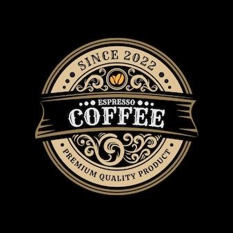 コーヒーエスプレッソヴィンテージコーヒーショップロゴテンプレート