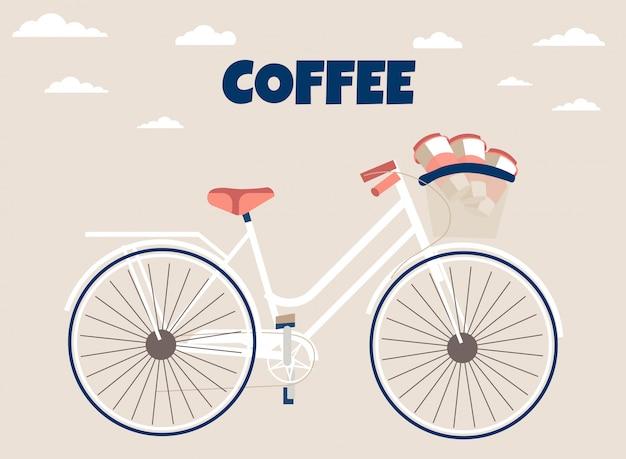 Служба быстрой доставки кофе рекламный баннер