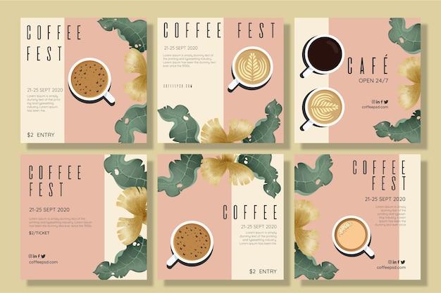 커피 축제 개념