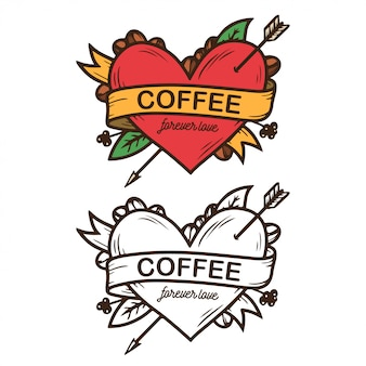 Coffee forever love clip-art
