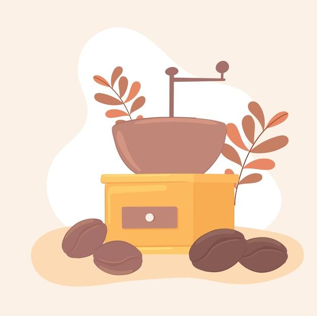 Coffee grinder and grains