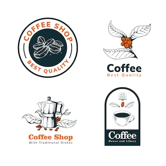 Coffee hand drawn logo