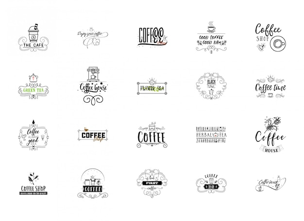 Coffee hipster vintage stylized lettering badge.