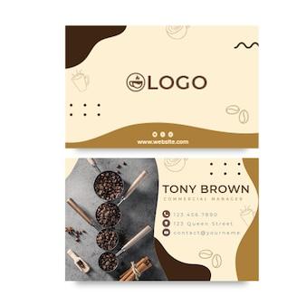 Coffee horizontal business card template