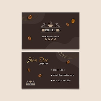 Coffee horizontal business card