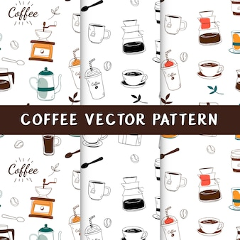 Coffee house and cafe seamless background vector