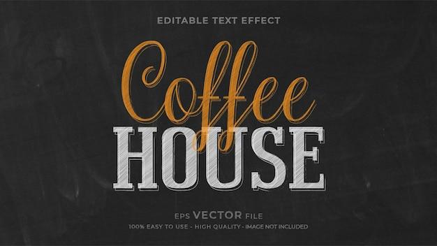 Редактируемый текстовый эффект мелом кофейни