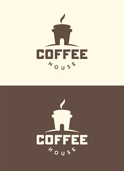 Coffee house. creative logo. isolated