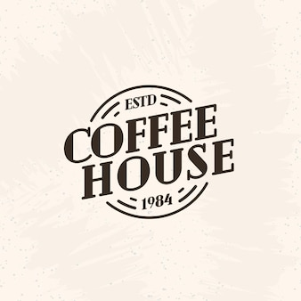 Coffee house logo black color line style isolated on background for cafe
