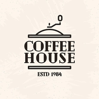 Coffee house logo line style isolated on white background for cafe