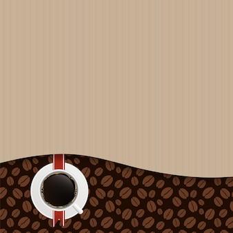 コーヒーハウスメニューテンプレートベクトル図