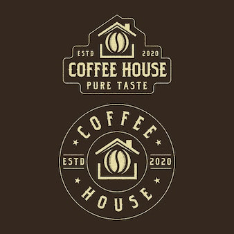 Coffee house vintage logo design