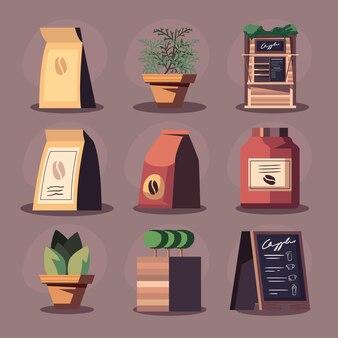커피 아이콘 세트